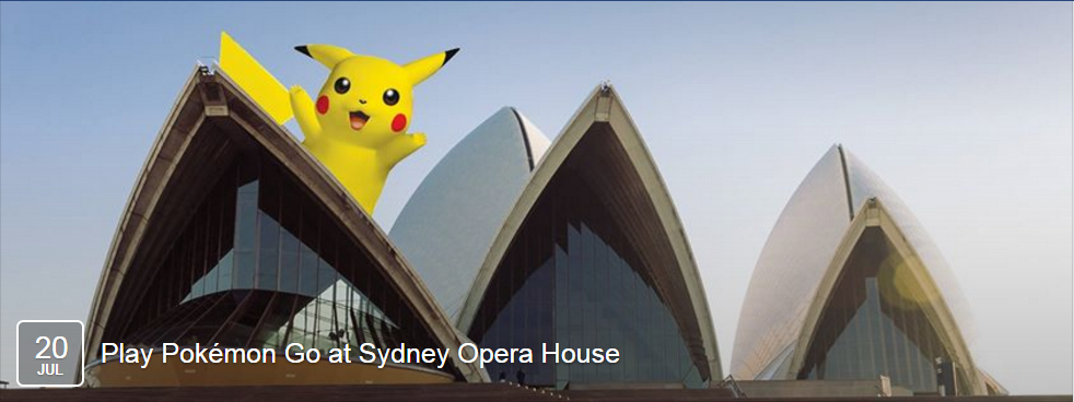 Sydneyska operna hiše prek Facebooka vabi igralce Pokémon Go