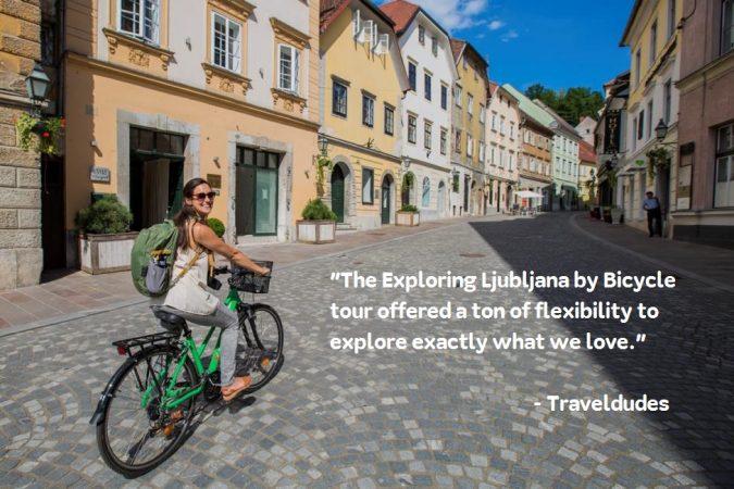 Odkrivajte Ljubljano s kolesom